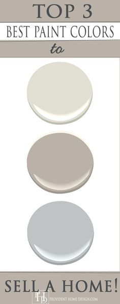 Top Paint Colors to Sell a Home: blue gray and its called Eternity from Benjamin Moore. I absolutely love this color and I've recommended it at least a dozen times to use in bathrooms, bedrooms, and even family rooms.