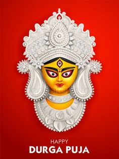Illustration of Goddess Durga Face in Happy Durga Puja Subh Navratri background Happy Durga Puja, Durga Maa, 3d Art Drawing, Poster Drawing, Navratri Wallpaper, Happy Navratri Wishes, Maa Image, Kerala Mural Painting, Durga Images
