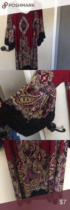 BOHO OFF THE SHOULDER PLUS SIZE DRESS Knee length off the shoulder plus size boho dress! Offers welcomed😊 Dresses Midi