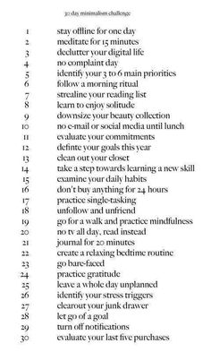 Minimalism and Self Care 30 days challenge . - Minimalism and Self Care 30 days challenge Minimalism and - The Words, Power Of Meditation, Removing Negative Energy, Negative Energy Quotes, Self Development, Personal Development, Yoga Inspiration, Style Inspiration, Me Time
