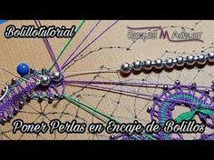 Poner Perlas en una cinta de Encaje de Bolillos - Raquel M. Adsuar Bolillotuber - YouTube Bobbin Lacemaking, Videos, Lace Heart, Lace Jewelry, Lace Making, Lace Detail, Tatting, Hair Accessories, Youtube