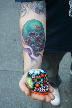 I like the sugar skull better...