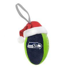 Seattle Seahawks Plush Football Ornament