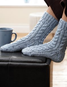Yarnspirations.com - Patons Cabled Sock - Patterns  | Yarnspirations