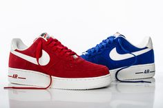 nike air force one | Nike Air Force 1 Hyper Blue and University Red | Hypebeast