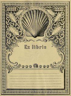 bookplates | Ex libris, seashells or mollusks, 1902