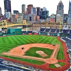 Home of the Pittsburgh Pirates.  Lots of great places to eat around the stadium.