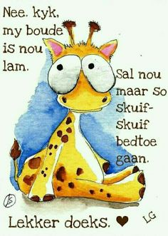 Giraffe Cartoon Drawing, Cute Animal Drawings, Cartoon Drawings, Painting & Drawing, Watercolor Paintings, Watercolour, Good Night World, Easy Animals, Happy Paintings