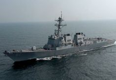 Guided-missile destroyer USS Mason (DDG 87).