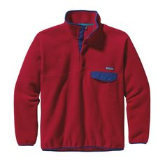 My new jacket i just bought today at Bink's Outfitters.  Patagonia Synchilla Snap T Pullover in Classic Red