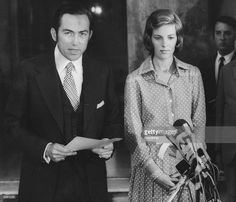 The deposed King of Greece, King Constantine II and his wife Queen Anne-Marie giving a press conference in Rome. Queen Anne, King Queen, Queen Elizabeths Children, Constantine Ii Of Greece, Greek Royalty, Anne Maria, Greek Royal Family, The Proclamation, Casa Real
