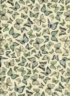 Santoro of London Mirabelle Butterflies in Sage 1/2 by neemerone