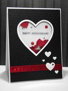 my inky corner: Shaker anniversary card!