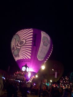 <3 purple hot air balloon by just me julie, via Flickr.