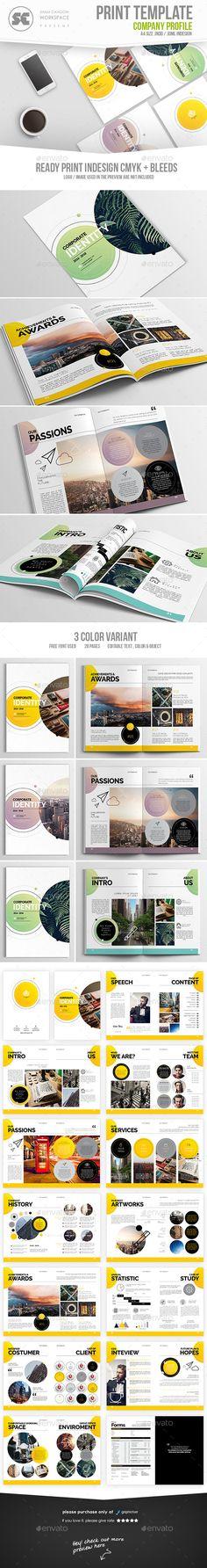 Company Profile | Company profile, Template and Corporate brochure