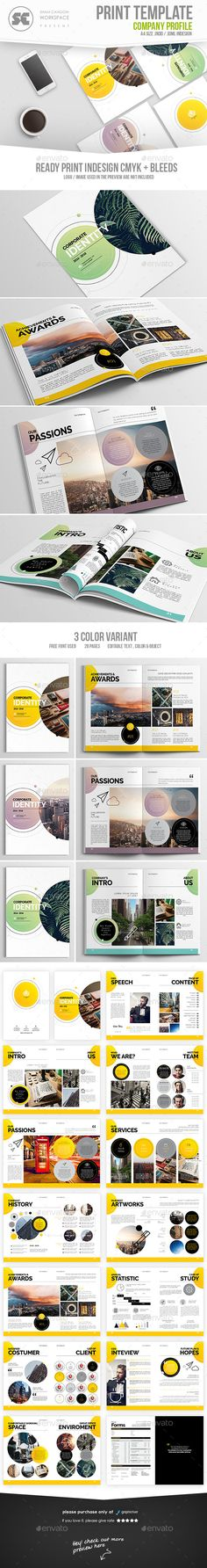 Company Profile Template, Company and Company profile - profile company template