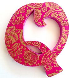 Custom order Q Wall hanging Q decorative letter Q by DulcetWhimsy