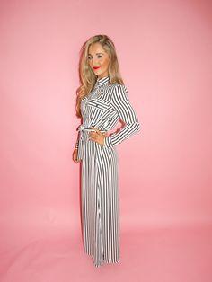 Maxi striped chiffon dress with long sleeves, side slits and waist belt Maxi Shirt Dress, Keep Cool, Chiffon Maxi, Fashion Addict, Belt, Long Sleeve, Sleeves, Shirts, Dresses