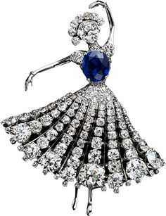 H & D Diamonds is your direct contact to diamond trade suppliers, a Bond Street jeweller and a team of designers.www.handddiamonds... Tel: 0845 600 5557 - Van Cleef And Arpels ballerina brooch