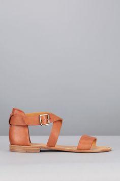 Sandales cuir camel Bento