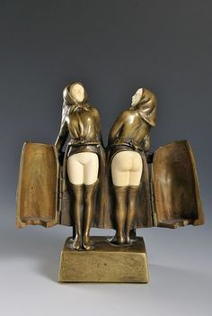 Modern Art Sculpture, Art Sculptures, Art Nouveau, Art Deco, Bronze, Land Art, Eclectic Style, Vintage Girls, Erotic Art