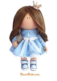 Princess Little Doll, Nursery Decor Idea, Baby Room Art Doll, Textile – Decor Dolls Rag Dolls, Fabric Dolls, Unique Gifts For Girls, Baby Room Art, Little Doll, Digi Stamps, Custom Dolls, Girl Gifts, Nursery Decor