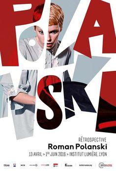Roman Polanski – Retrospective poster on – Design Cover Design, Graphisches Design, Buch Design, Layout Design, Logo Design, Dm Poster, Poster Layout, Typography Poster, Play Poster