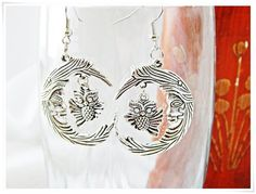 Owl & Moon  Antique Silver  Double-Sided Charms  by TheEverydayOwl