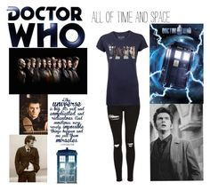 """""""Doctor Who"""" by little-miss-emo-girl ❤ liked on Polyvore featuring Topshop, nerd and doctorwho"""