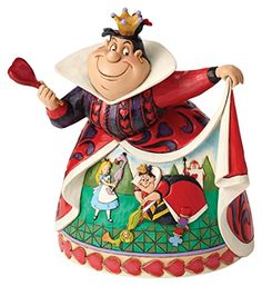 Celebrate the anniversary of Alice In Wonderland with this Queen of Hearts figurine. Designed by award winning artist and sculptor, Jim Shore, for the Disney Traditions brand, it's styled to look hand-sculpted. Walt Disney, Deco Disney, Disney Love, Disney Stuff, Cinderella Disney, Disney Princess, Film Alice In Wonderland, Adventures In Wonderland, Disney Collectibles