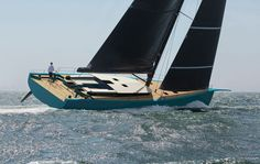 """The Y7 Tripp 70 is a modern and clean 22m sailing yacht. Michael Schmidt Yachtbau works with the principle """"keep it simple"""". So the yacht is equipped with a self-tacking jib for easy family sailing. The lightweight carbon hull reacts also with light winds. The semi-custom sailing yacht comes with some different layouts"""