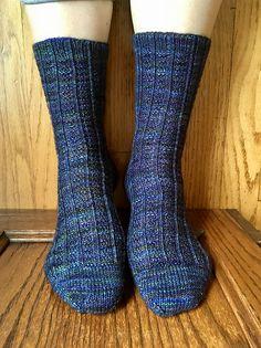 Longbottom Leaf by Virginia Sattler-Reimer, knitted by larkspur91 | malabrigo Sock in Candombe