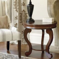 Benedetta Round Side Table | Ballard Designs... Love that this one comes in white too!!