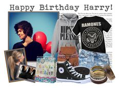 """""""Happy Birthday Harry!"""" by miss-janelle ❤ liked on Polyvore featuring ASOS, 1&20 Blackbirds, Converse, women's clothing, women, female, woman, misses, juniors and styles"""