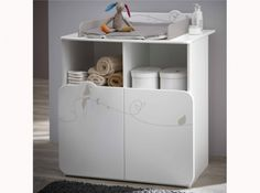 Commode et table a langer blanche
