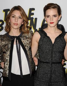 Sofia Coppola, Emma Watson, and Crew Bring The Bling Ring to LA: Sofia Coppola posed with Emma Watson at the Bling Ring premiere in LA.