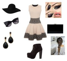 """""""Mini Dress 1"""" by moniquedawson09123 ❤ liked on Polyvore featuring Alexander McQueen, Charlotte Russe, Charlotte Olympia, Monki and Kenneth Jay Lane"""