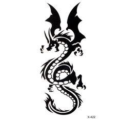 ドラゴントーテム防水一時的な入れ墨ステッカーボディアートタトゥーセクシーな製品水転送diyボディアート美容化粧タトゥー
