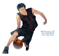 Render Kuroko No Basket - Renders Kuroko No Basket Aomine Daiki Uniforme Basket Touhou Hight Ballon N 5 Gakuen Inugata Summit