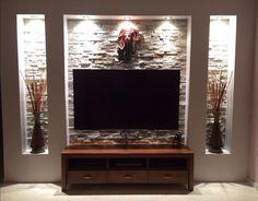 Tia saved to fassadeWohnzimmer Tv Wand Ideen Luxus Tv Wall Sala De Est. Tv Unit Design, Tv Wall Design, House Design, Tv Cabinet Design, Tv Wanddekor, Plafond Design, Tv Wall Decor, Tv Area Decor, Home Theater Design