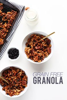 30 MINUTE Grain Free Granola! So delicious, naturally sweetened and protein rich!