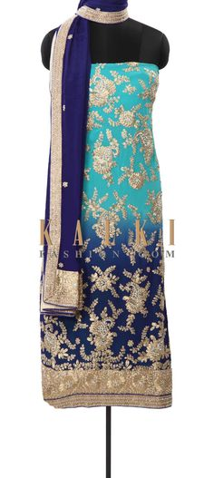 Buy Online from the link below. We ship worldwide (Free Shipping over US$100) Price- $189 Click Anywhere to Tag http://www.kalkifashion.com/shaded-kurti-embellished-in-zari-and-pearl-embroidery-only-on-kalki.html