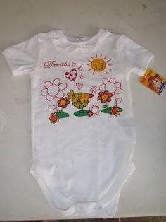 pañalero para bebe pintado a mano flores y pajaro