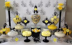 Black, White & Yellow Wedding Candy Buffet | Flickr - Photo Sharing!