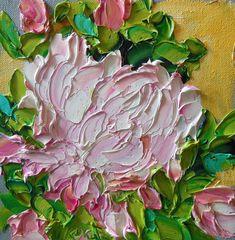 Oil Painting Original Impasto  Pink Peonies by IronsideImpastos, $65.00