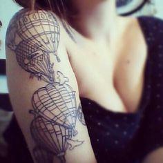 pretty hot air balloon tattoo - Google Search