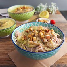 vegane spaghetti carbonara glutenfrei ohne Soja Geheimzutat