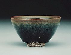 "Bowl in Black Glaze with ""Hare's Fur"" Striations"