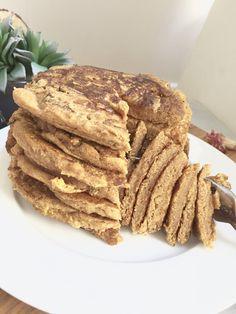 Pumpkin Spice Vegan Pancakes! Gluten, oil, refined sugar free.