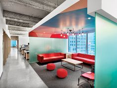 5 Firms Design Viacom's Midtown NYC Headquarters | Projects | Interior Design. MTV Office by Architecture + Information.